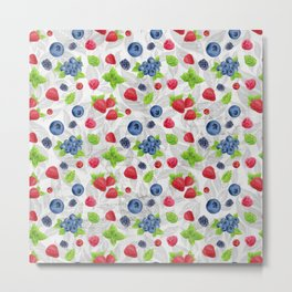 Berries Pattern 04 Metal Print