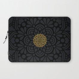 """""""Black & Gold Arabesque Mandala"""" Laptop Sleeve"""