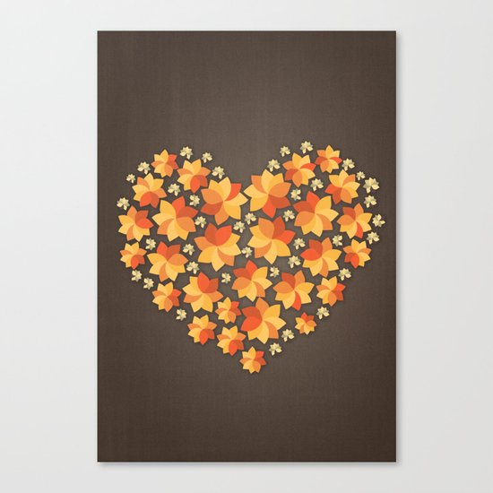 Denim Heart Canvas Print