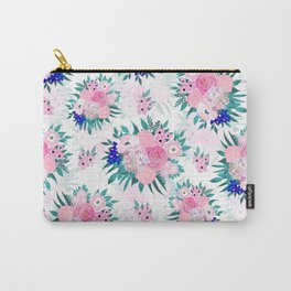 Elegant Pink Bloom Floral Pattern Carry-All Pouch