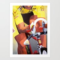greg guillemin Art Prints featuring Greg LeMond by Yuji Yamada