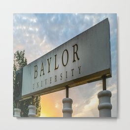 Baylor University Waco Texas Sunrise Campus Print Metal Print