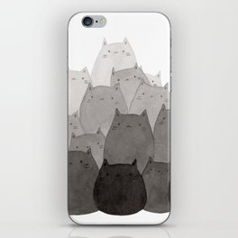 Kitty Pile iPhone Skin