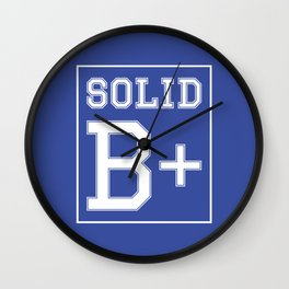 """Solid B+"" Wall Clock"
