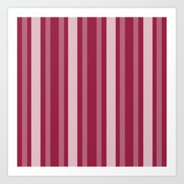 Raspberry Victorian Lady Stripe Art Print