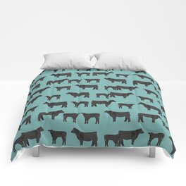 Angus Cattle breed farm gifts must have cow animal Comforters