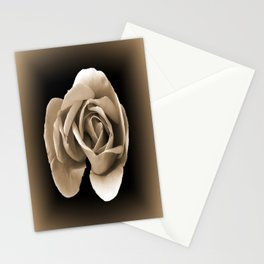 Rose in Sepia Stationery Cards