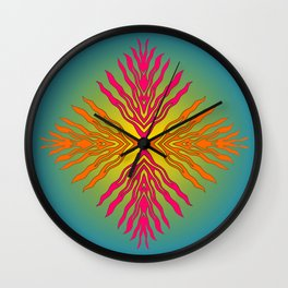 Flames composite - Papercut patterns Wall Clock