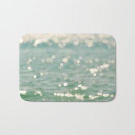 beach. bokeh sparkle. ocean. La Mer Bath Mat