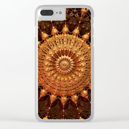 Sun Spur - Raw 3D Fractal Clear iPhone Case