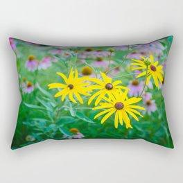 Wildflowers at Dusk Rectangular Pillow