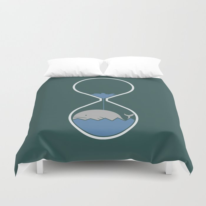 whale hourglass Duvet Cover