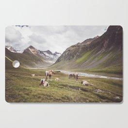 Tyrolean Haflinger horses I Cutting Board