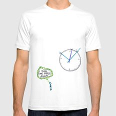 Shattered Frozen Time MEDIUM White Mens Fitted Tee