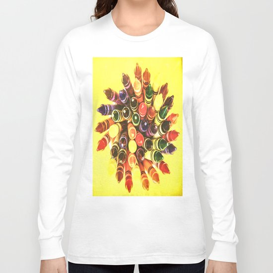Crayon Love: Crayon Bouquet Long Sleeve T-shirt