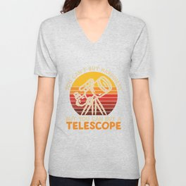 Can't Buy Happiness But Telescope Unisex V-Neck