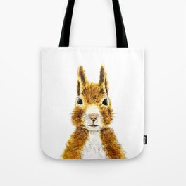 cute little squirrel watercolor Tote Bag