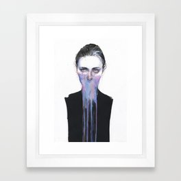 my opinion about you Framed Art Print