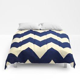 Fleet Week - Navy Chevron Comforters