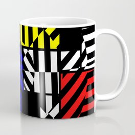 Best Abstract Art (Colored Squares Pattern) Coffee Mug