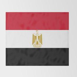 flag of egypt- Egyptian,nile,pyramid,pharaon,cleopatra,moses,cairo,alexandria. Throw Blanket