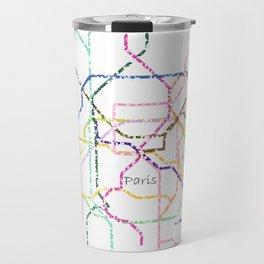 Paris Subway Map Art Travel Mug