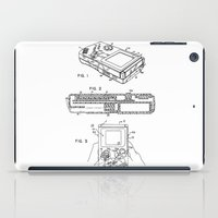 gameboy iPad Cases featuring Gameboy Patent Drawing by Patent Drawing