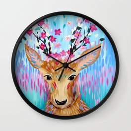 Sakura Deer Wall Clock