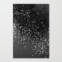 Dark Gray Black Lady Glitter #1 #shiny #decor #art #society6 Canvas Print