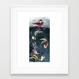 Catfish & Purrmaids Framed Art Print