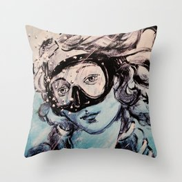 Underwater Birth of Venus Throw Pillow