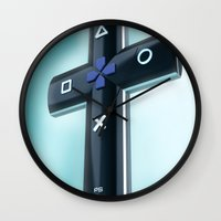 religion Wall Clocks featuring Game religion by Dmitriy Turovskiy (pushok12)