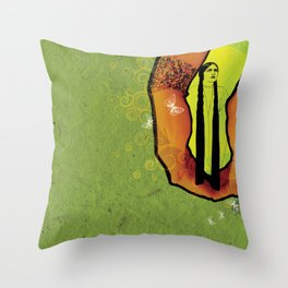 For you - green Throw Pillow