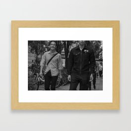 inside joke Framed Art Print