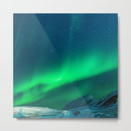 Northern Lights (Aurora Borealis) 1. Metal Print
