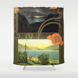 Vintage poster - Lago di Como Shower Curtain