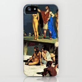 """Classical Masterpiece """"At the Roman Slave Market"""" by Herbert Herget iPhone Case"""