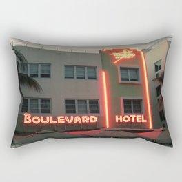 Vintage Style Photo Miami Beach Rectangular Pillow