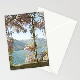 Lavender Wisteria Flowers and Mountains Stationery Cards
