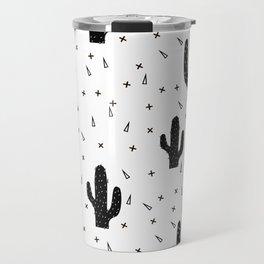 Cactuses abstract modern print simple Travel Mug