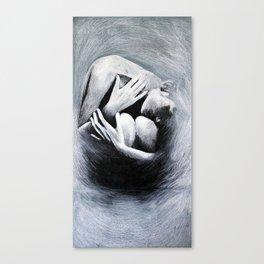 Woman in Black Canvas Print