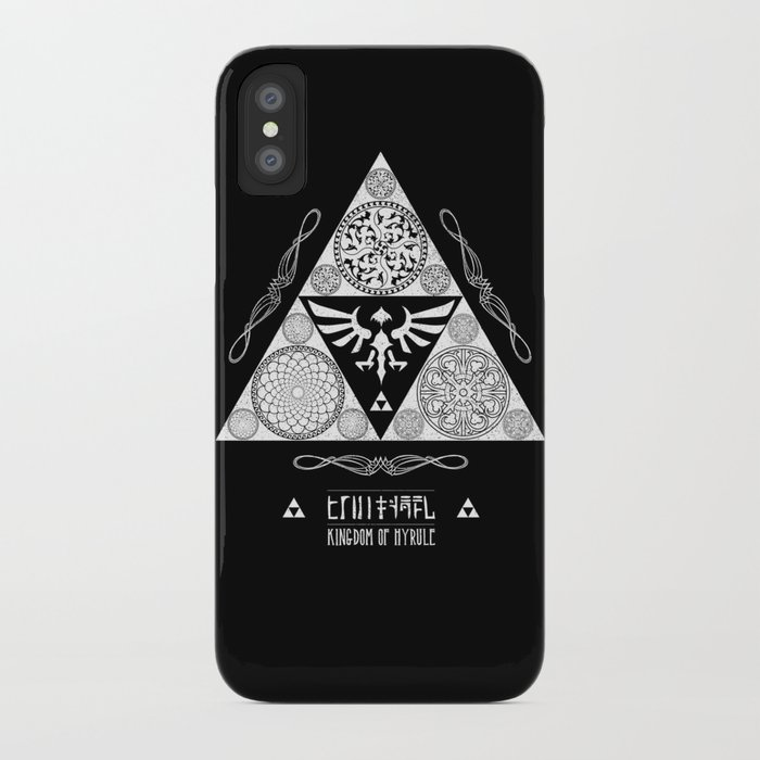 Legend of Zelda Kingdom of Hyrule Crest Letterpress Vector Art iPhone Case