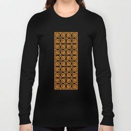 Ethnic tile pattern orange Long Sleeve T-shirt