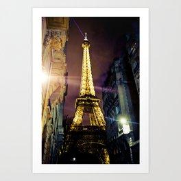 Paris La Nuit Art Print