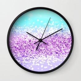 Unicorn Girls Glitter #17 #shiny #decor #art #society6 Wall Clock
