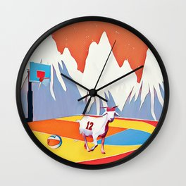 Goat in court Wall Clock