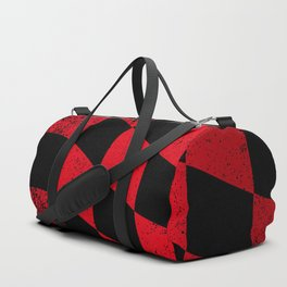 Red Dirty Chequered Flag Duffle Bag