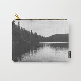Reflections on black & white lake Carry-All Pouch
