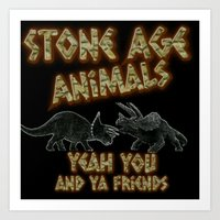 queens of the stone age Art Prints featuring Stone age Animal by lilbudscorner