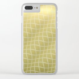 Gold Ripple Grid Pattern Clear iPhone Case